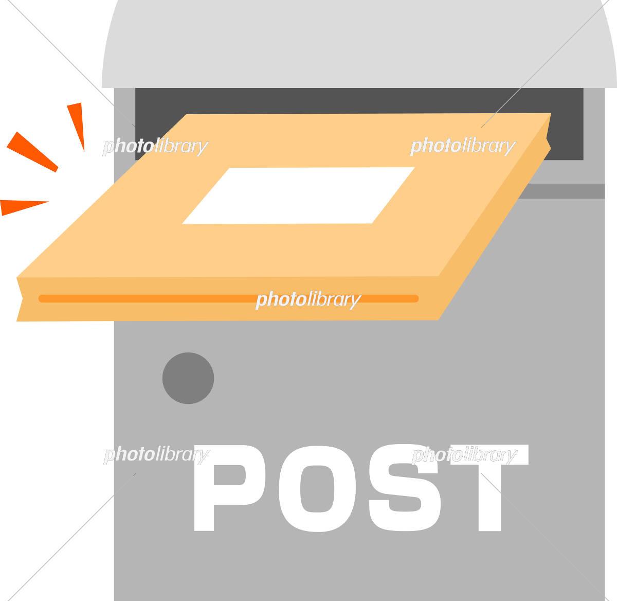 郵便受けに投入される荷物 イラスト素材 [ 5310238 ] - フォトライブ