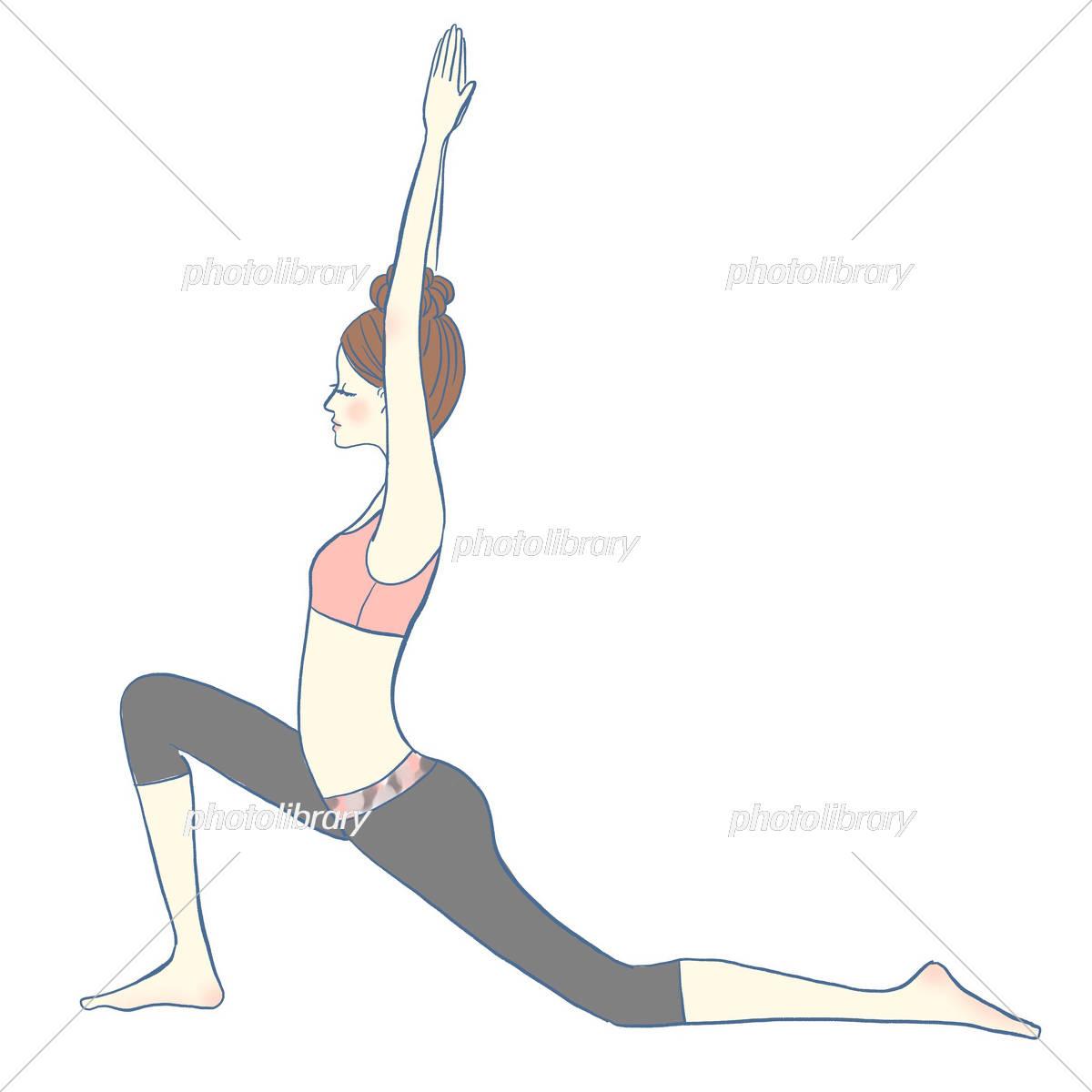 ヨガをする女性 イラスト素材 5310302 フォトライブラリー