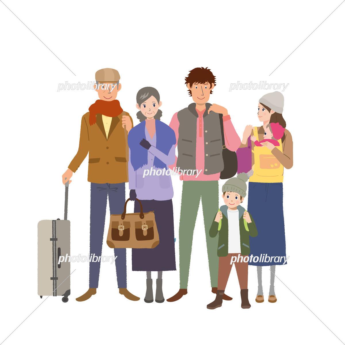 旅行 家族 イラスト イラスト素材 [ 5310704 ] - フォトライブラリー