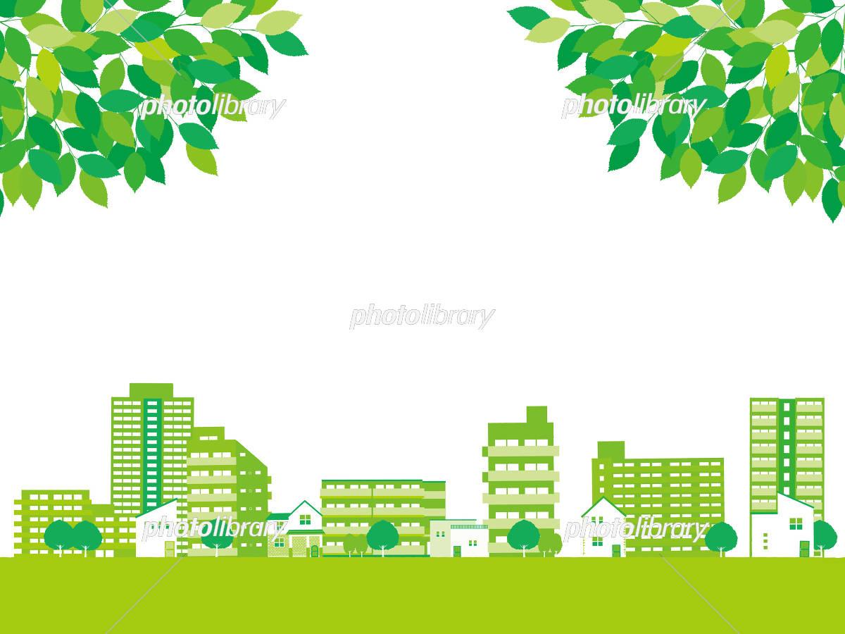 新緑 町並み イラスト素材 5385958 フォトライブラリー Photolibrary