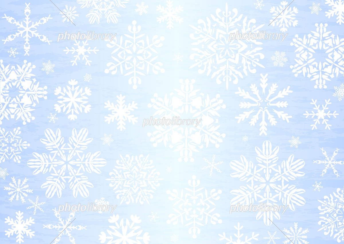 雪の結晶 背景 イラスト素材 [ 5389814 ] - フォトライブラリー photolibrary
