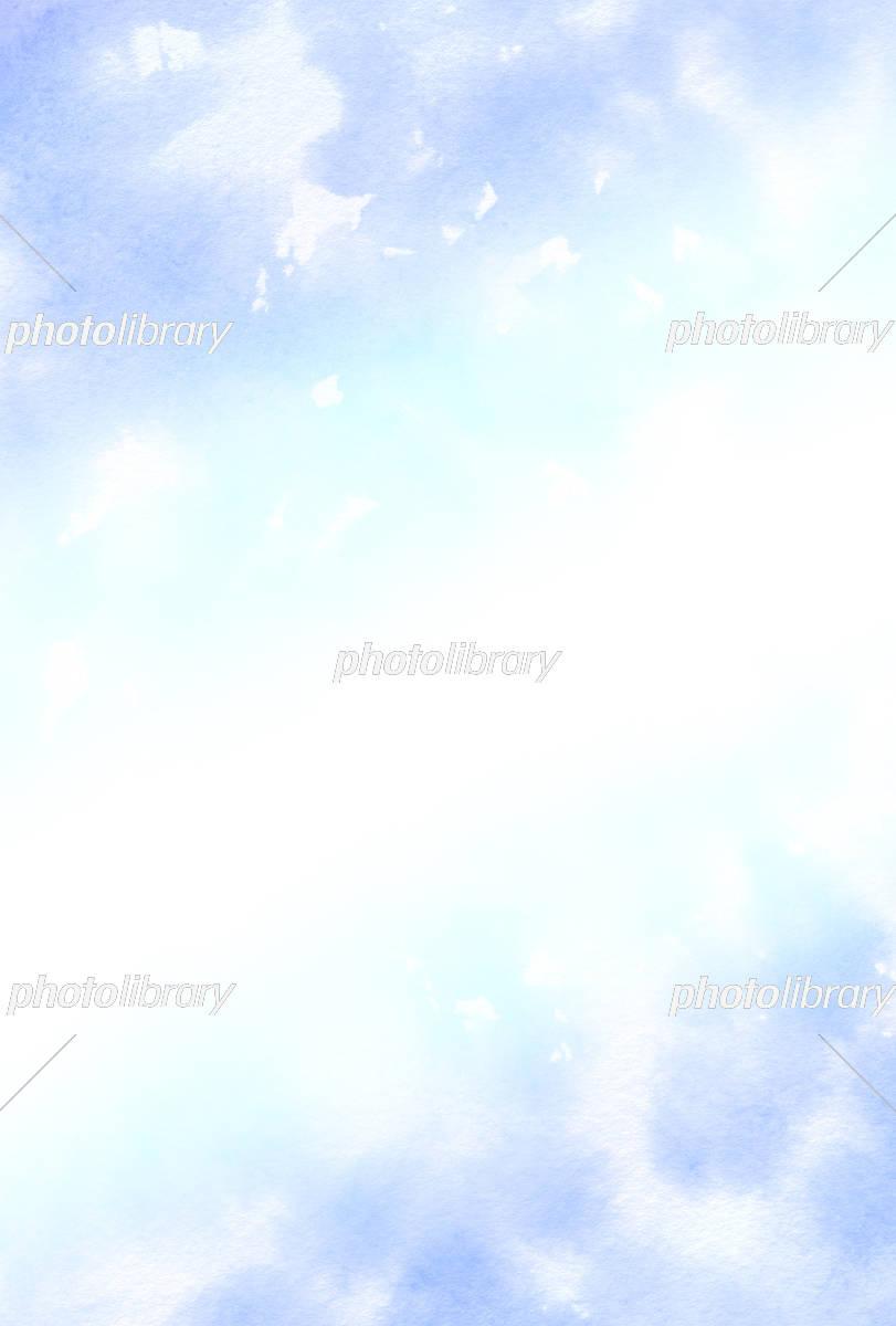 水彩壁紙 青色 イラスト素材 5390364 フォトライブラリー