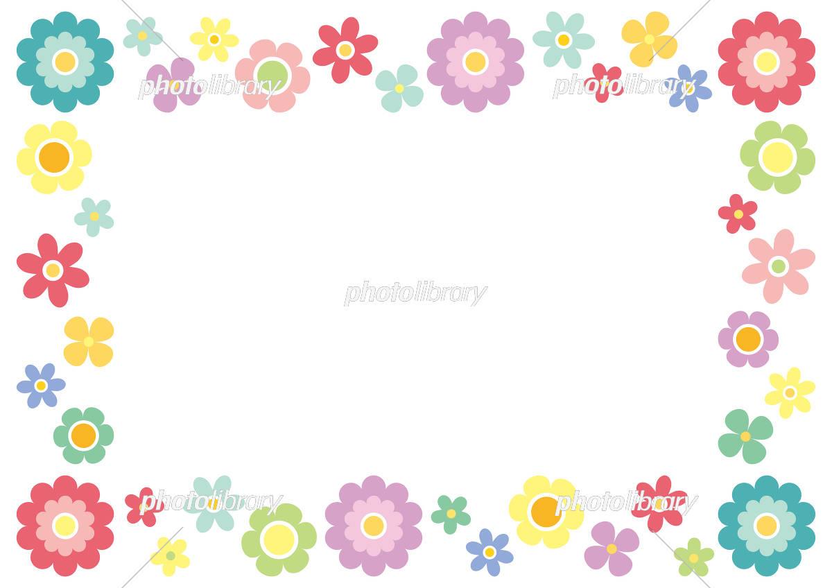 シンプルな花のフレーム イラスト素材 [ 5393324 ] - フォトライブラリー
