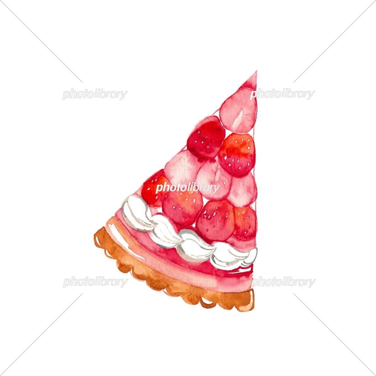 ケーキ 1ピース ストロベリー イラスト素材 フォトライブラリー Photolibrary