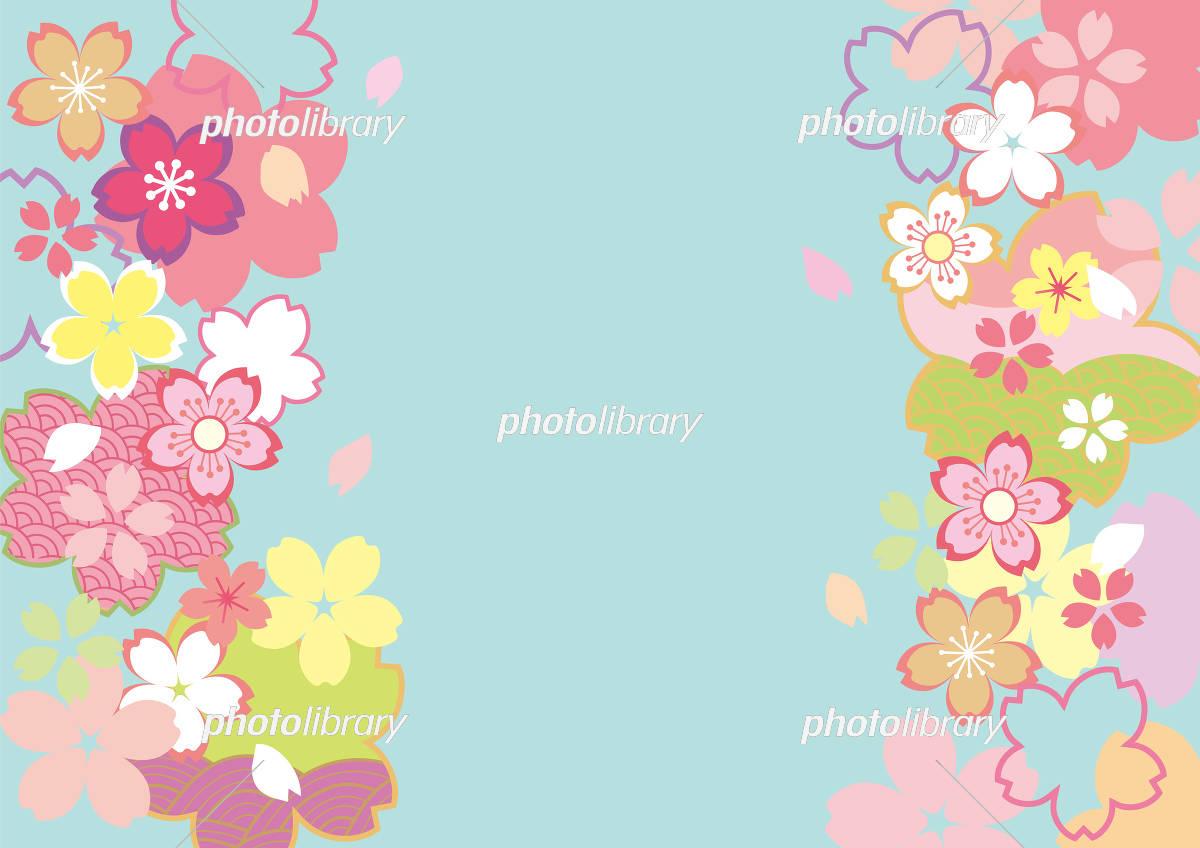 桜和柄 かわいい色 イラスト素材 5441930 フォトライブラリー