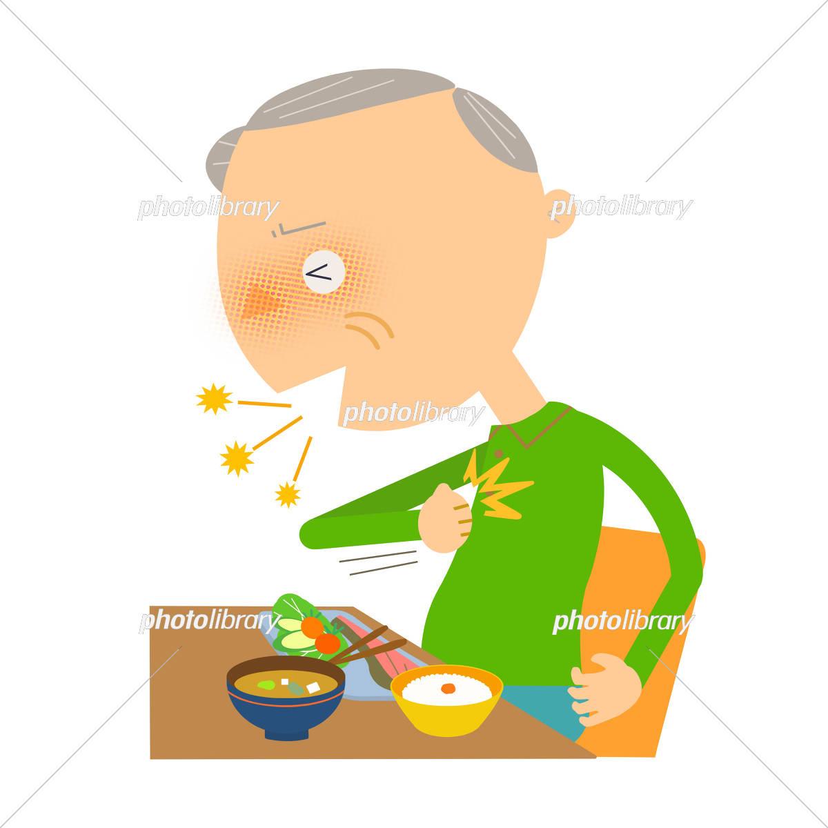 シニアの食事中の誤嚥 イラスト素材 5442191 フォトライブラリー