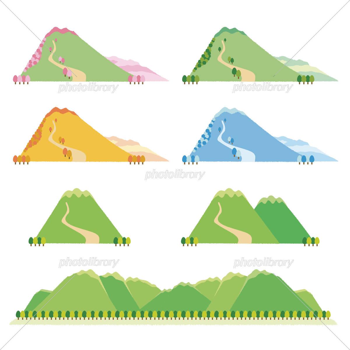 いろいろな山 イラスト素材 5745175 フォトライブラリー Photolibrary
