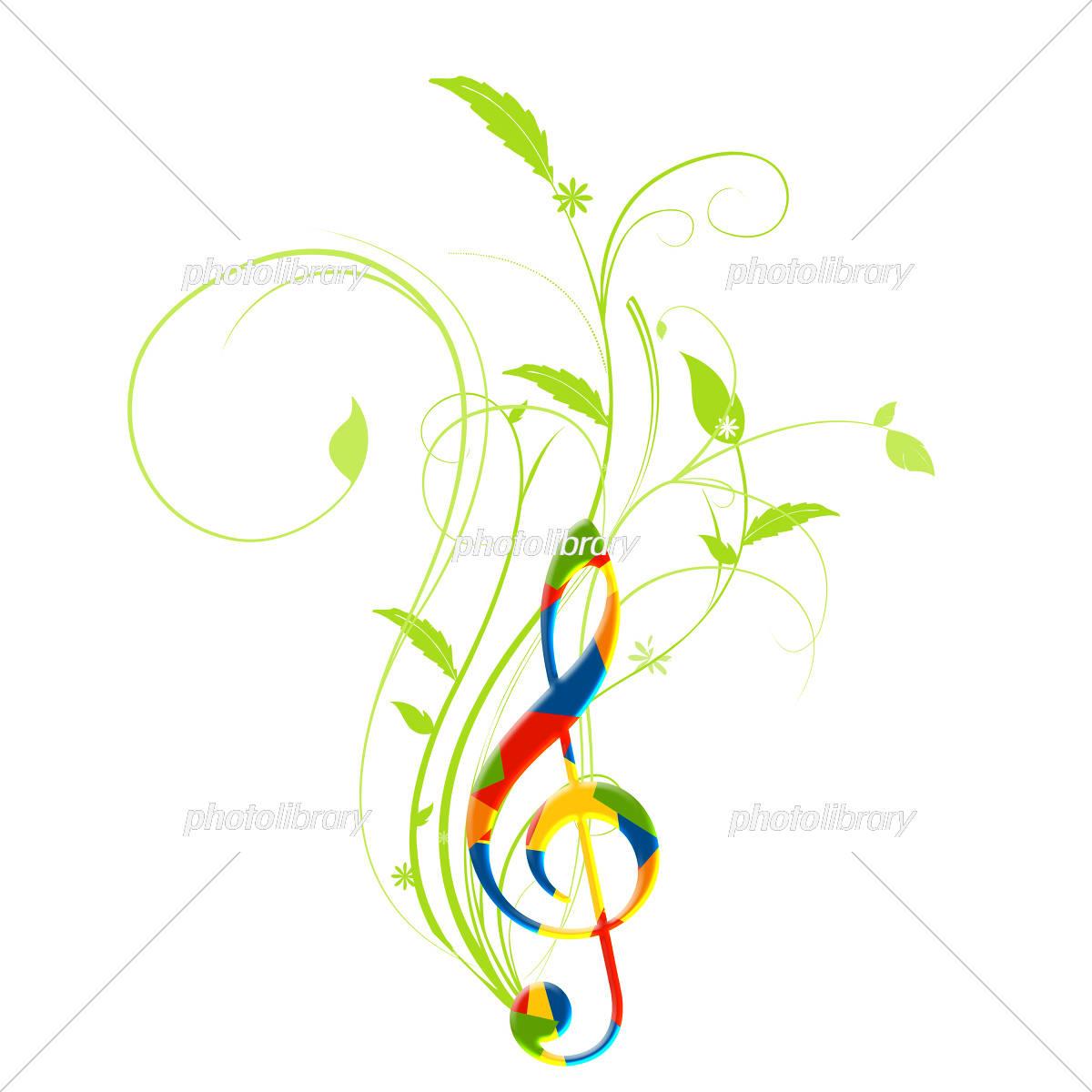 音楽 楽譜 譜面 ミュージック ト音記号 音符 イラスト素材 5753083