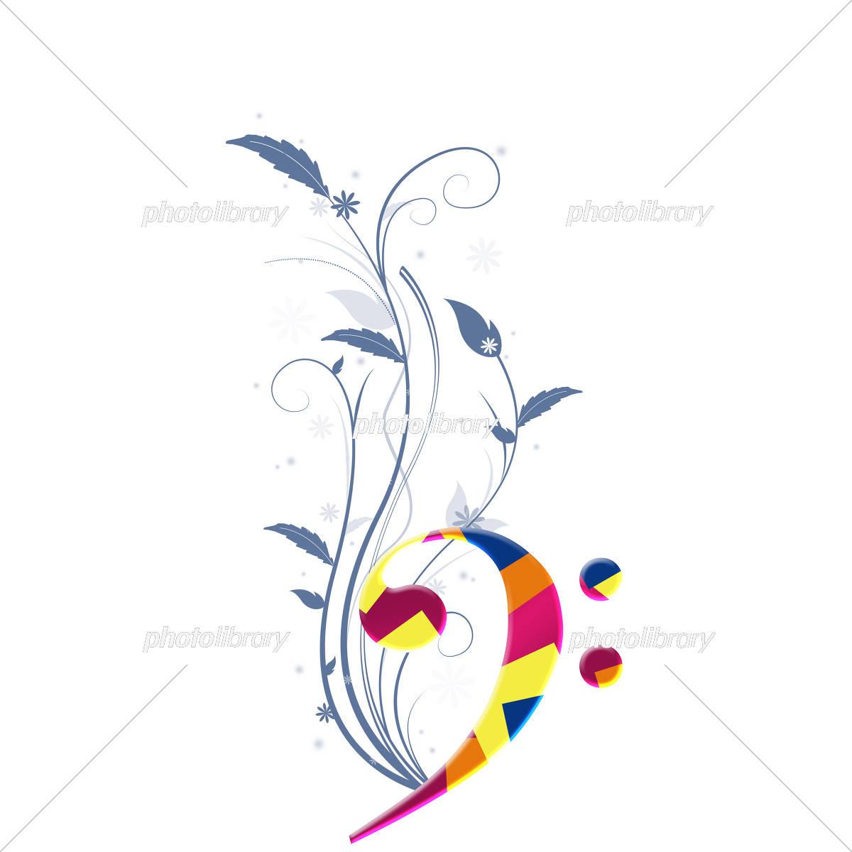 音楽 楽譜 譜面 ミュージック ト音記号 音符 イラスト素材 5753092