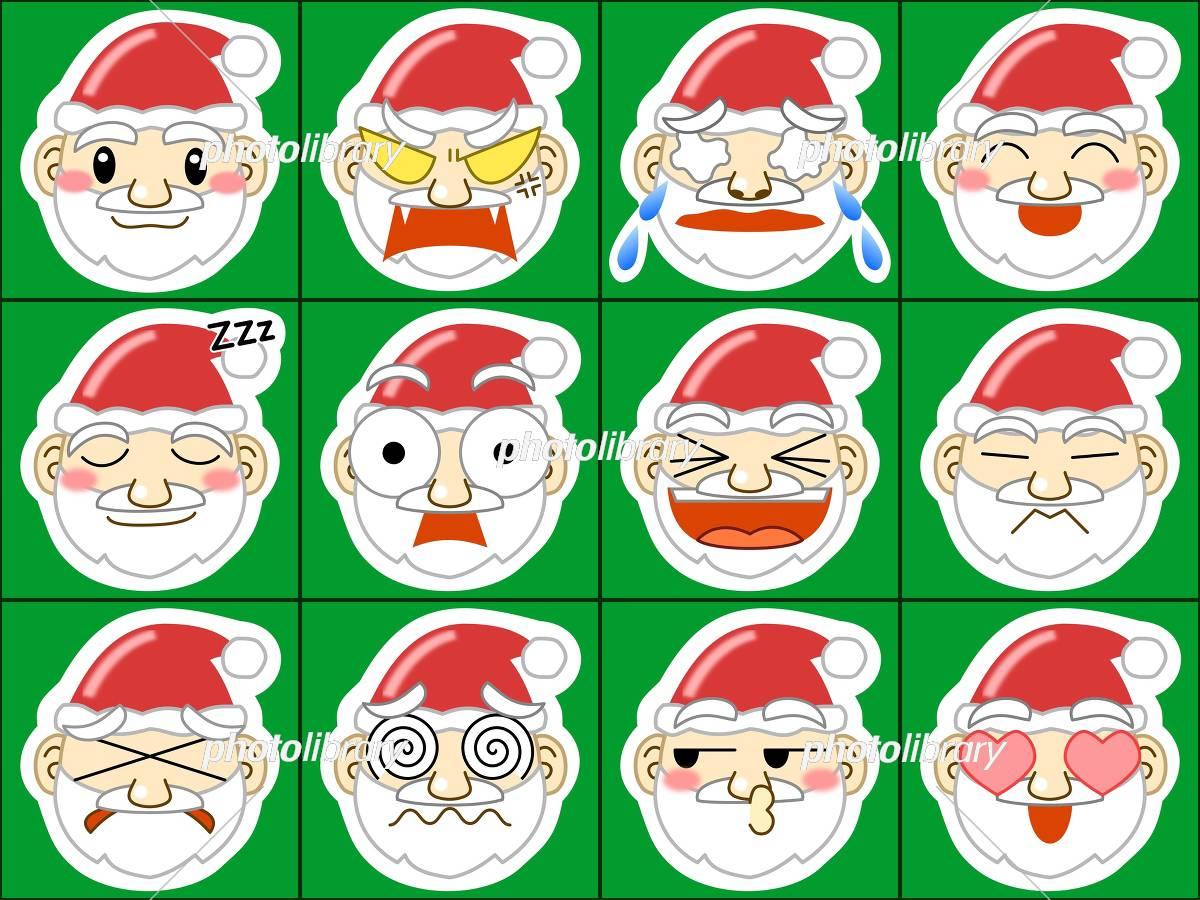 かわいい サンタクロース 顔 アイコン イラスト素材 5813114
