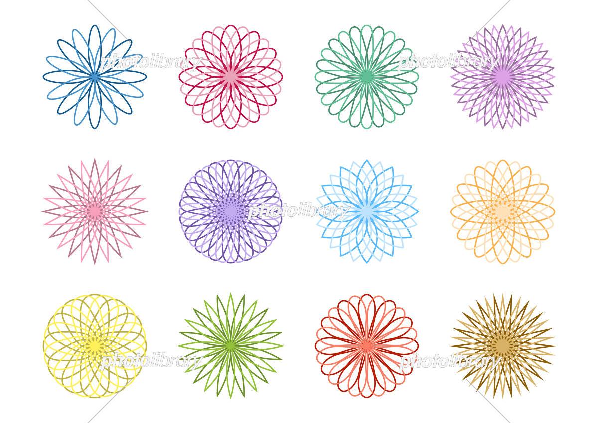 幾何学模様 花 アイコン デザイン イラスト素材 5849252 フォト