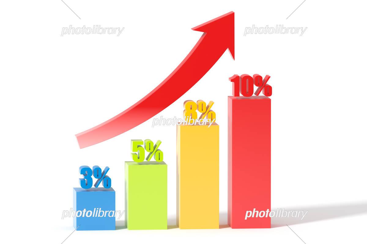 日本の消費税の増加の3Dイラスト イラスト素材 [ 5872250 ] - フォト ...