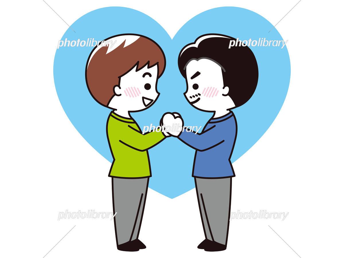 手を取り見つめ合うlgbtのカップル イラスト素材 5913292 フォト