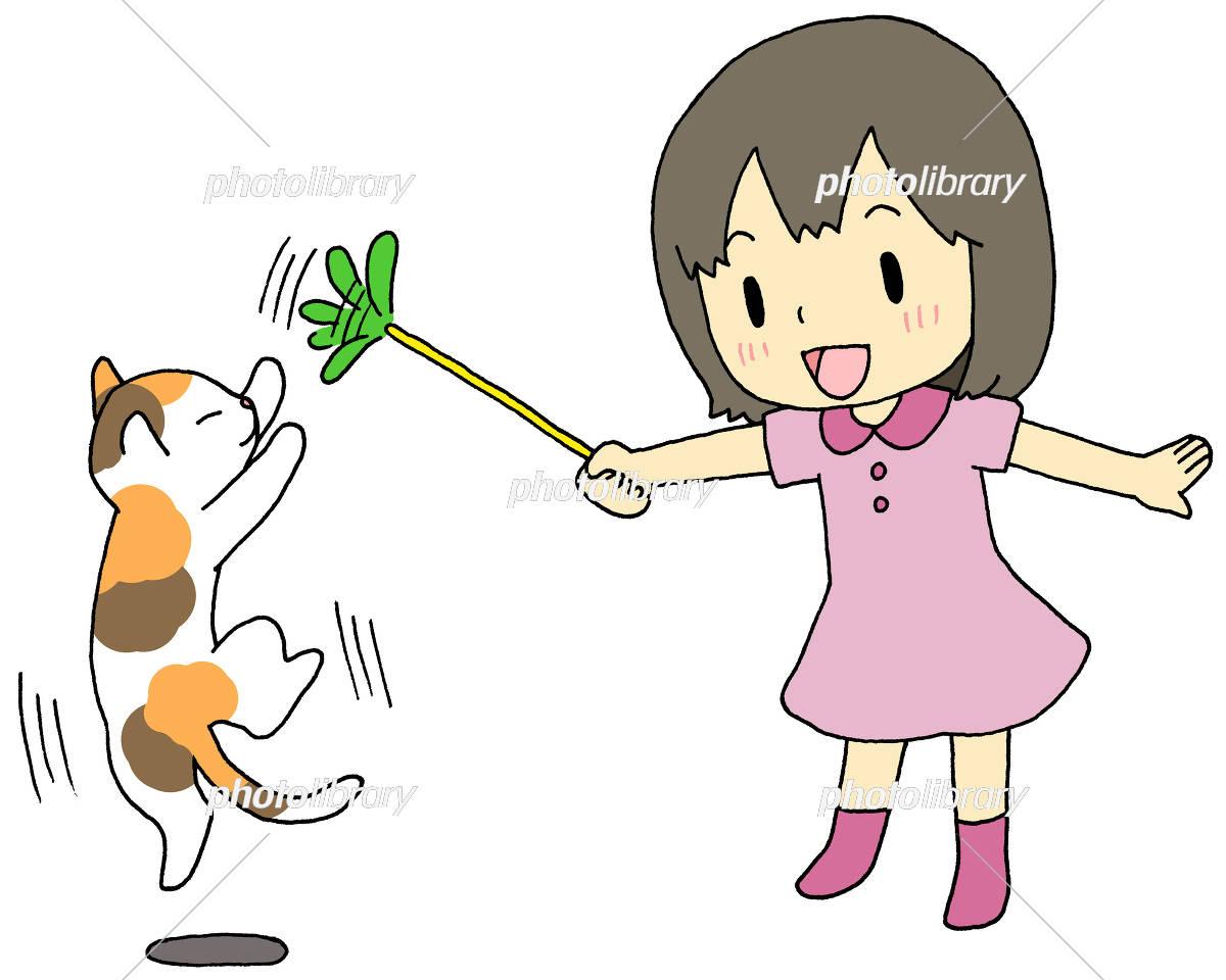 猫 遊ぶ 女の子 イラスト素材 [ 5916638 ] - フォトライブラリー ...