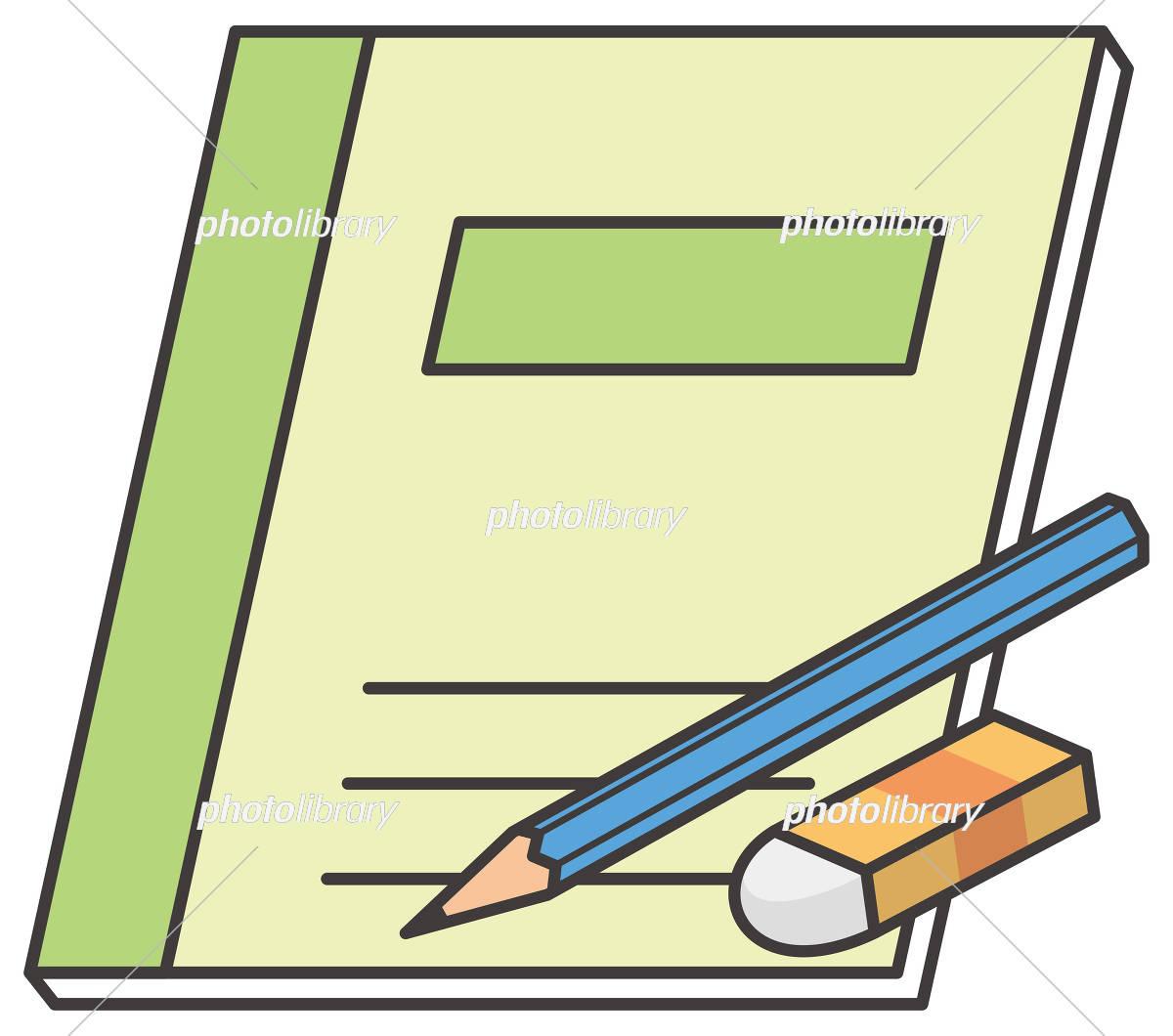 鉛筆ノート消しゴム イラスト素材 5937301 フォトライブラリー