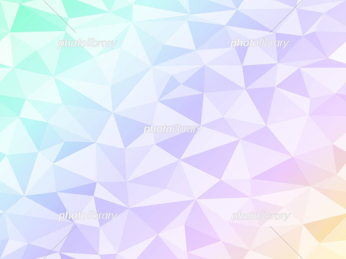ポリゴン 背景 パステルカラー イラスト素材 [ 5969440 ] - フォト ...