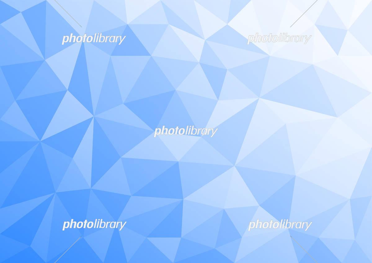幾何学模様 ポリゴン イラスト 背景 青 イラスト素材 6127204
