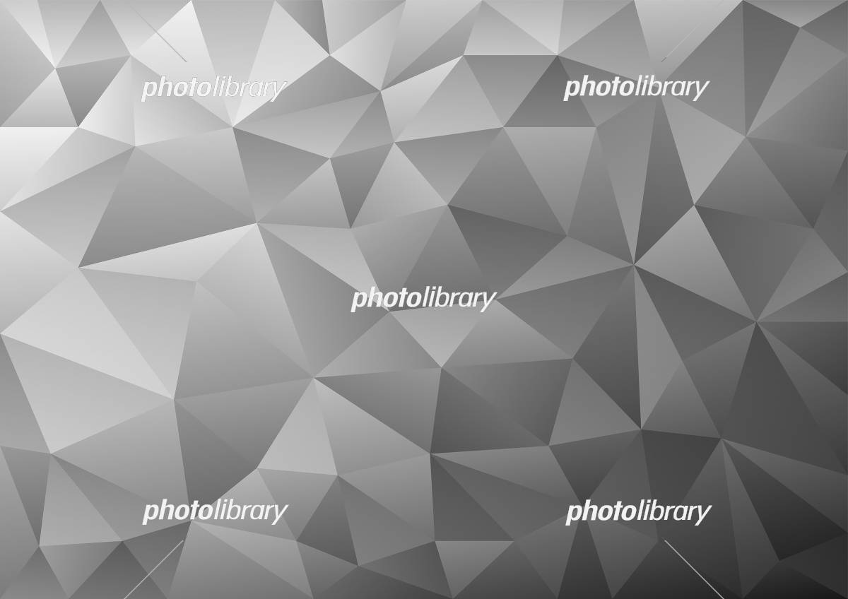 幾何学模様 ポリゴン イラスト 背景 グレー イラスト素材 6127206