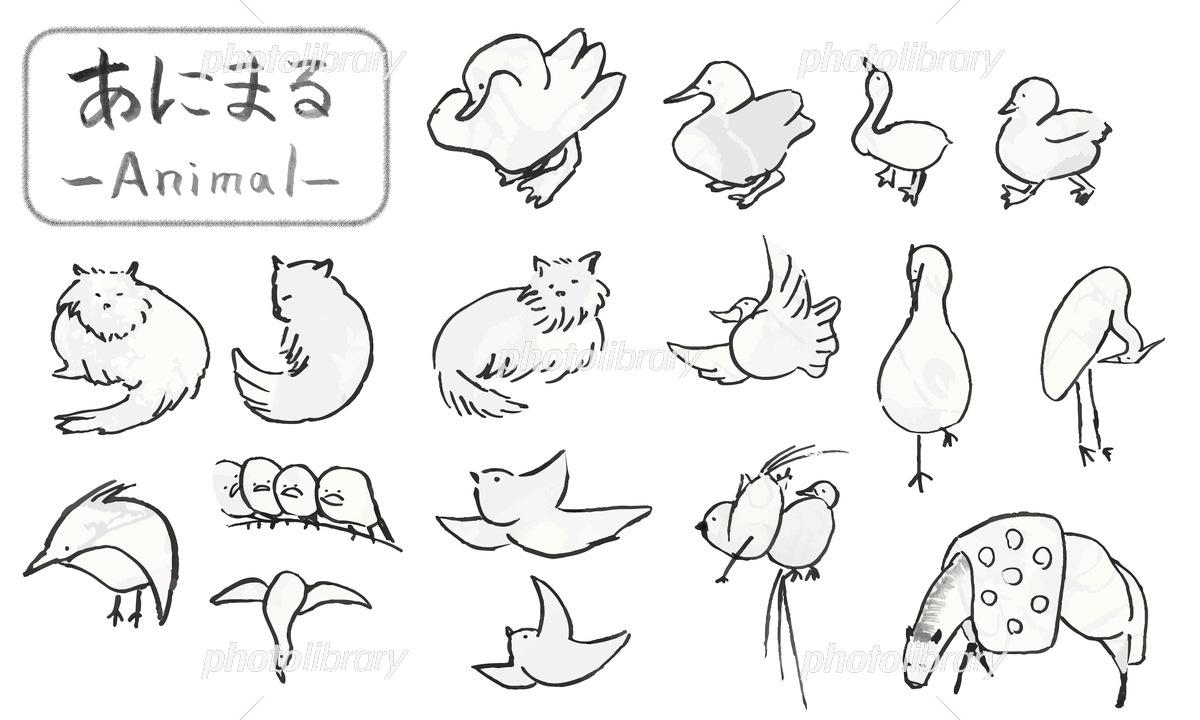 イラスト 手書き 動物