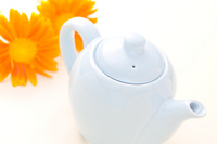 Gerbera and teapot Stock photo [317315] Gerbera