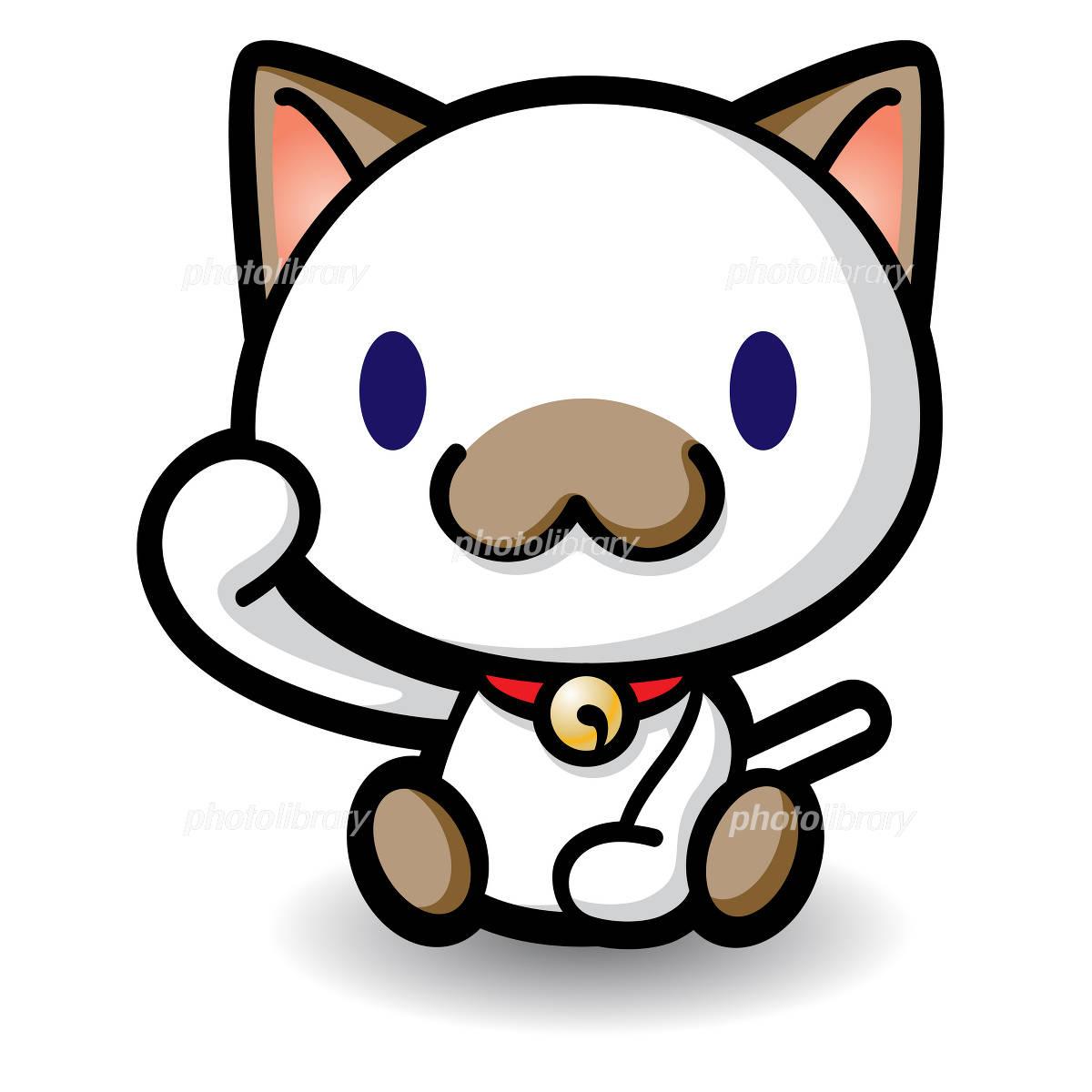 招き猫 シャム猫 イラスト素材 373226 フォトライブラリー
