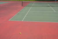 Tennis courts and ball Stock photo [367174] Tennis