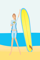 Girl surfing Stock photo [368073] Girls