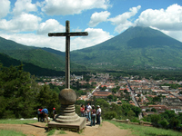 The view from the top of the Guatemala of World Heritage Historic City of Antigua hill Stock photo [381709] World