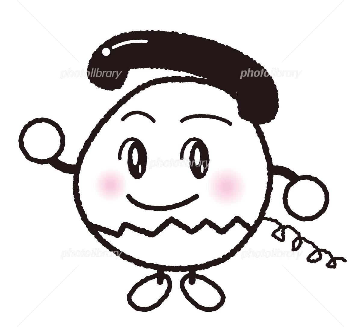 電話のイメージキャラクター手描き風 イラスト素材 492700