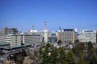 Buildings and blue sky of Aomori city Stock photo [492464] Aomori