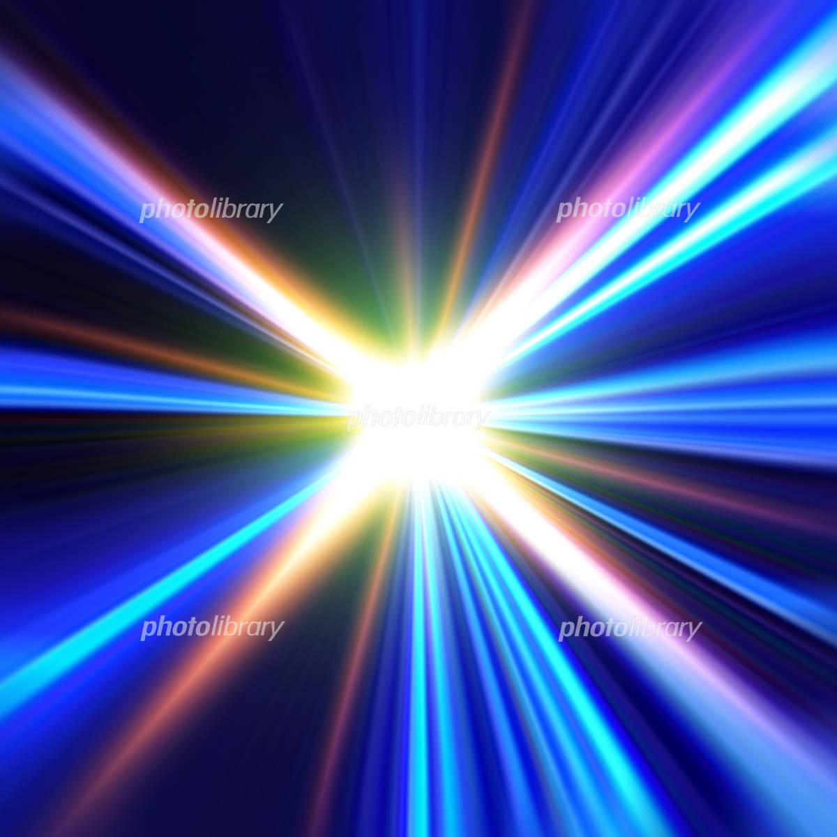 虹色の光のイラスト