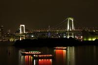Blue diamond veil and Rainbow Bridge Stock photo [568409] Tokyo
