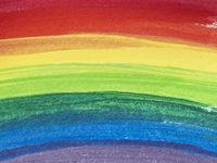 Rainbow-colored oil painting texture Stock photo [640677] Oil