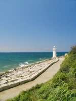 Seaside promenade and lighthouse Stock photo [641097] Promenade