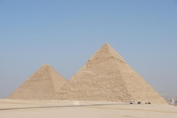 Pyramids of Egypt World Heritage Khufu and Khafre Stock photo [736856] Egypt