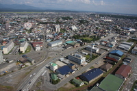Akita City, facing from Selion Stock photo [738007] Akita