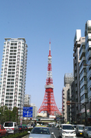 Mita Street and Tokyo Tower Stock photo [747201] Mita