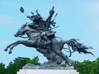 Japan big Kikuchi TakeHikari equestrian statue Stock photo [800814] Kyushu