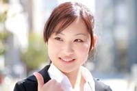 OL of smile that thumbsup Stock photo [803026] Female
