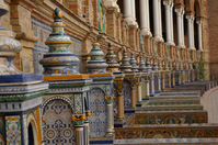 Pottery tile of Sevilla of Spain Square Stock photo [804685] Spain