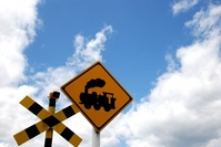 Display of Yes railroad crossing Stock photo [807606] Railroad
