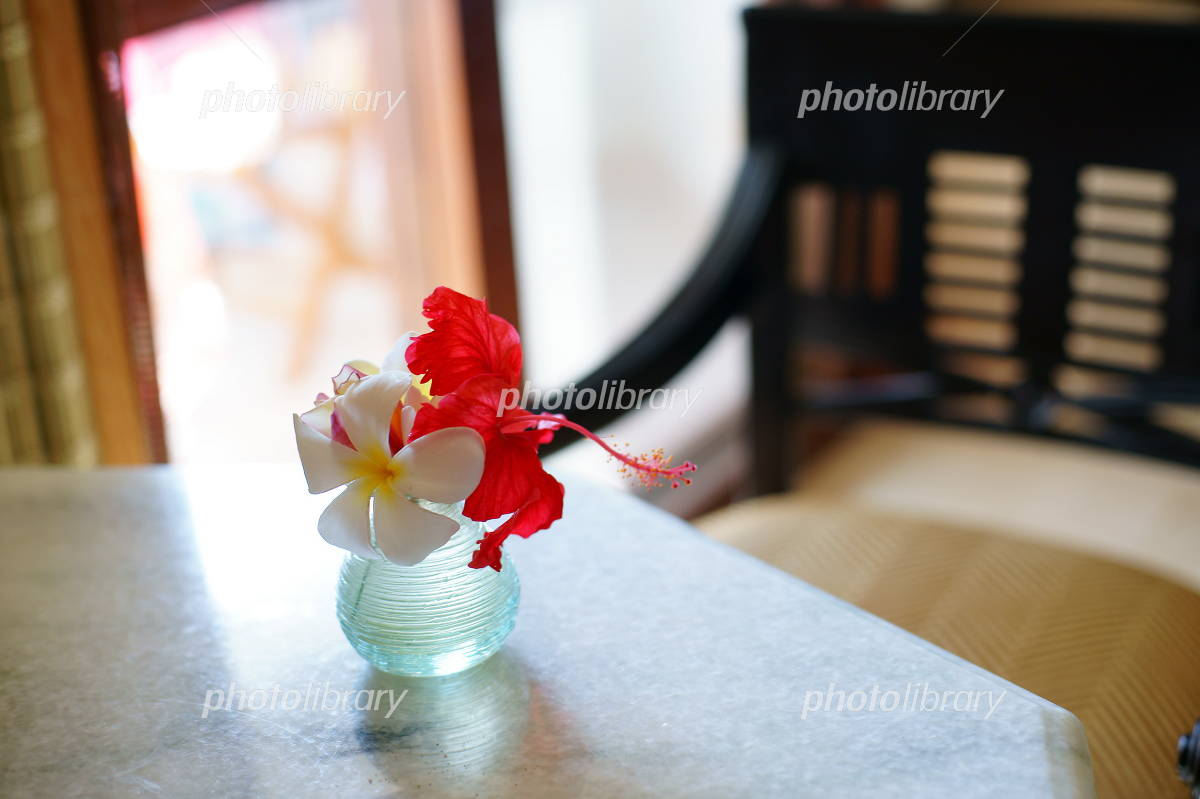 Image of tropical flowers Resort Photo
