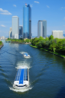 Osaka Business Park and the water-bus Stock photo [972948] A