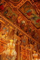 Ceiling painting of the Paris Opera Foyer Stock photo [974233] France