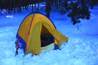 Snowy mountains of tent Stock photo [976669] Tent