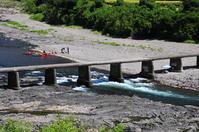 Shimanto of Low water crossing Stock photo [979131] Bridge,
