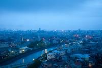 Morning streets of heavy rain warning Stock photo [982613] Rain