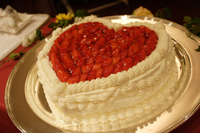 Wedding Cake heart-shaped Stock photo [1084440] Wedding