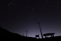 Minami Aso of starry sky Stock photo [1085183] Starry