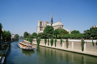 Seine River and Notre Dame Cathedral Stock photo [1089734] Beam